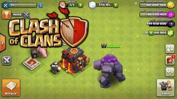 Clash of Clans Hack Game Play on iOS